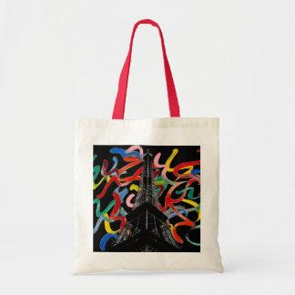 Abstract Art-Eiffel Tower Bag
