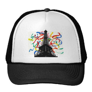 Abstract Art-Eiffel Tower Hat