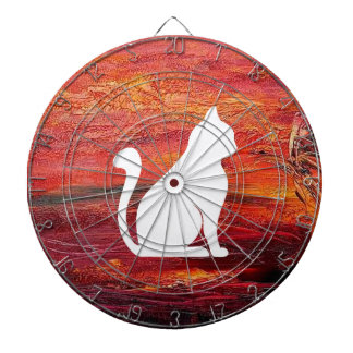 Abstract Art Emotions love With Cat Dartboards