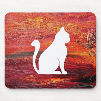 Abstract Art Emotions love With Cat Mouse Pad
