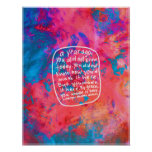 Abstract Art encouraging poster motivational quote