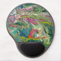 Abstract Art Expressionism Colorful Gel Gel Mouse Pad
