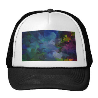abstract art, expressionist art, rainbow art, chil trucker hat