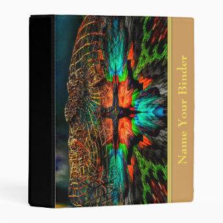 Abstract art face design mini binder