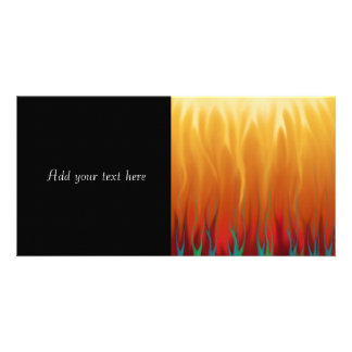 Abstract Art - Fire - Background Flames Photo Card