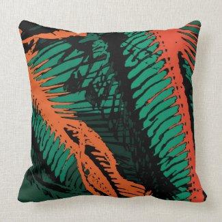 Abstract Art Fish Bones Throw Pillow