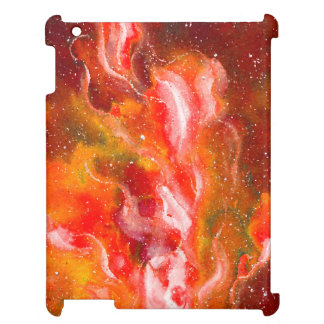 Abstract Art Flames Red Orange Glow iPad Case