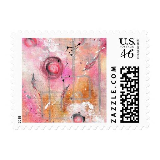 Abstract Art - Flight of Solidarity Postage