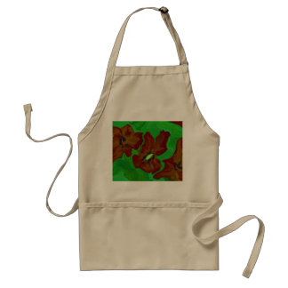 abstract art floral smock adult apron