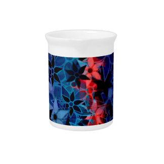Abstract Art Flower Pattern #2 Beverage Pitcher