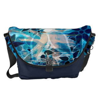 Abstract Art Flower Pattern #4 Courier Bag