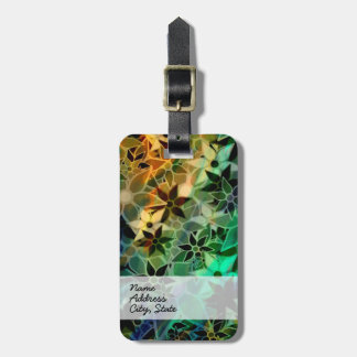 Abstract Art Flower Pattern Luggage Tag