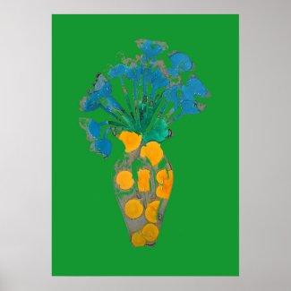 Abstract Art Flower Poster