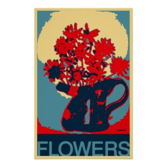Abstract Art | Flowers in a Pot Poster