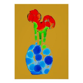 Abstract Art flowers Poster