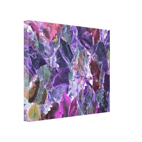 Abstract Art Foliage Leaves Canvas Print