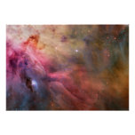 Abstract Art Found in the Orion Nebula Poster