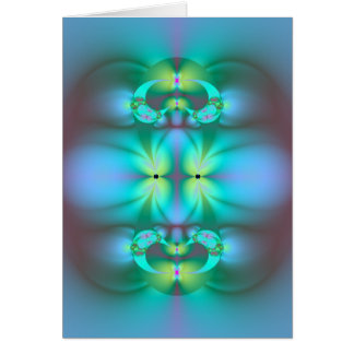 Abstract Art Fractal Art Design The Light Within Card
