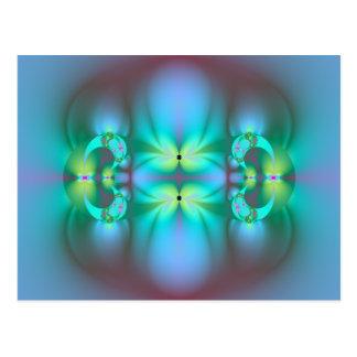 Abstract Art Fractal Art Design The Light Within Postcard
