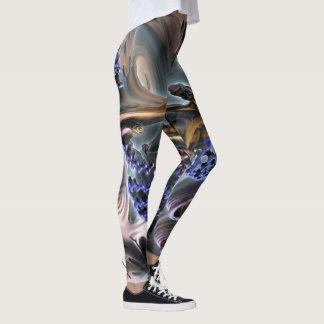 Abstract ART - Fractal GUM GUM rotation Leggings