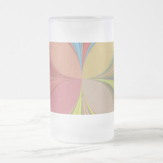 ABSTRACT ART FROSTED GLASS BEER MUG