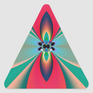 Abstract Art Funky Flower Triangle Sticker