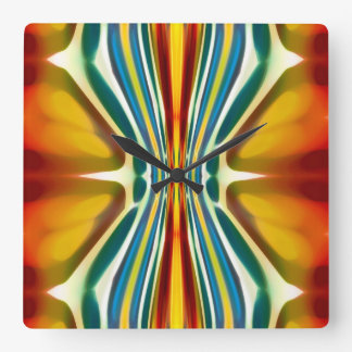 Abstract Art Fury Pattern 6 Square Wall Clock
