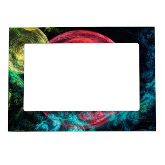 Abstract Art Galaxy Circles Photo Frame Magnet