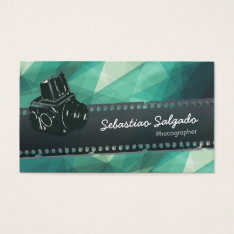 Abstract Art Geometric Pattern Photographer Camera Business Card at Zazzle