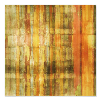 "Abstract Art Golden Yellow Invitation Card 5.25"" Square Invitation Card"
