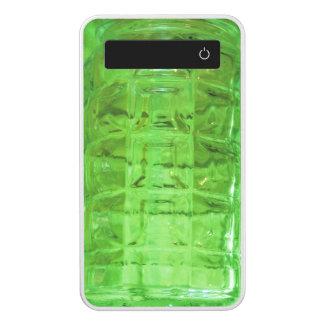 Abstract Art Green Glass Power Bank