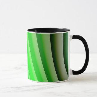 Abstract Art Green Wave Mug