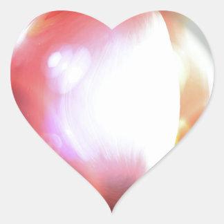 Abstract Art Heart Sticker