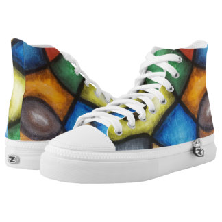Abstract Art   High Top Sneakers