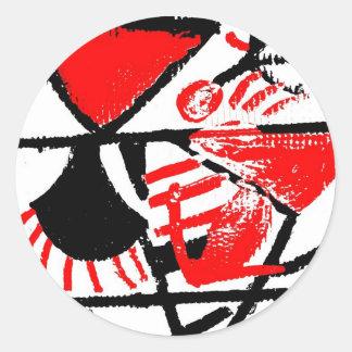 Abstract art Horacio Romera Classic Round Sticker