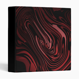 Abstract Art Hot Lava Red andn Black Binder