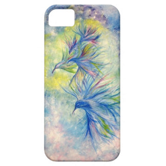 abstract art humming birds on iphone case