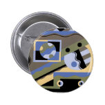 Abstract Art in Geometrics Pinback Buttons