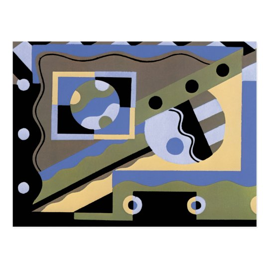 Abstract Art in Geometrics Postcard