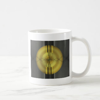 Abstract Art in grey yellow by Tutti Coffee Mug