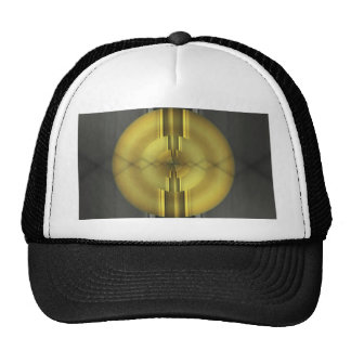 Abstract Art in grey yellow by Tutti Trucker Hat