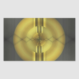 Abstract Art in grey yellow by Tutti Rectangular Sticker