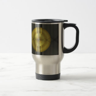 Abstract Art in grey yellow by Tutti Travel Mug