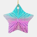 Abstract art in pinks and blues ornament door hang
