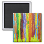 Abstract Art in Yellow 2 Inch Square Magnet