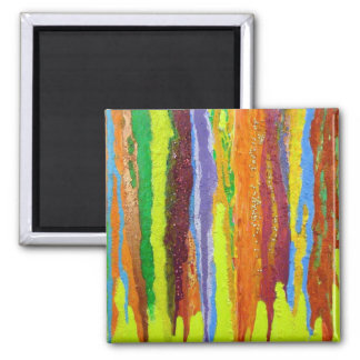 Abstract Art in Yellow Magnet