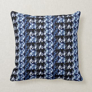 Abstract Art Indigo blue Throwpillow