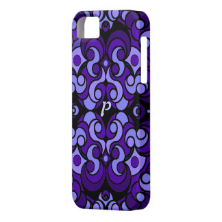 Abstract Art iPad Case in Purple iPhone 5 Covers