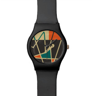 Abstract Art Jazz Man - Custom RetroFlat Watches