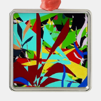 Abstract Art Jungle plants Metal Ornament